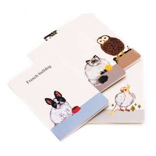 Animal Theme A5 Lined Notebook