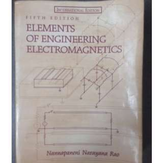 原文 Elements of Engineering Electromagnetics #教科書出清 電機系 工程