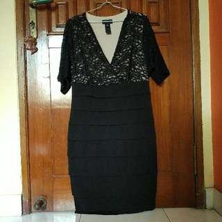 Enfocus Studio Black Brocade Plump Dress