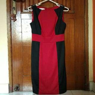 London Times Black-Red plump Dress
