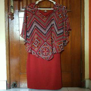 Sweet Storm Tribal Dark Orange Plump Dress