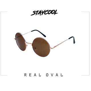 Real oval brown