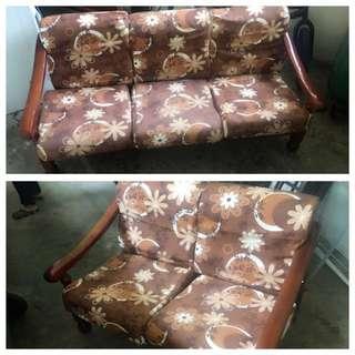 Three plus two seater sofa. Ctc: 93361712. Pls arrange own transport.