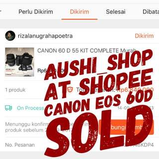 canon eos 60 D SOLD TRUSTED SHOP