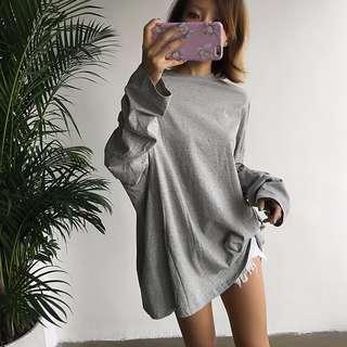 ALICE SELECT 超大件 寬鬆顯瘦 長袖長版tee
