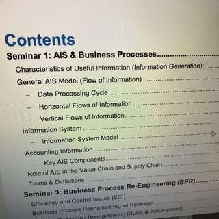 AC2401 BIBLE Accounting Information Systems