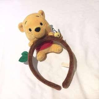 東京廸士尼維尼熊Winnie the Pooh 公仔髪箍