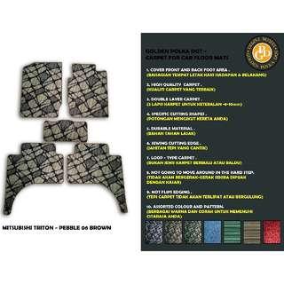5pcs Mitsubishi Triton Customized High Quality Car Floor Mats- Pebble Brown- MTR-C055