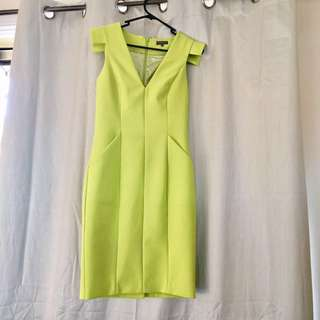 Sheike Lime Green Dress