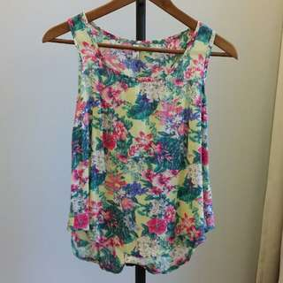 Airy Floral Top (Yellow)