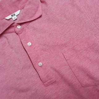 Polo Shirt Uniqlo Pink