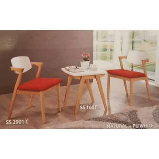 Coffee table/Dining Table with 2 PCS chairs set
