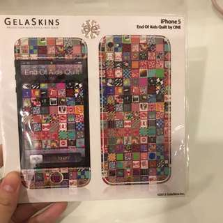 Sticker gelaskin iphone 5