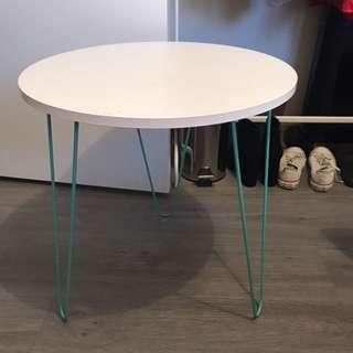 Side Table w/ Mint Green Lega
