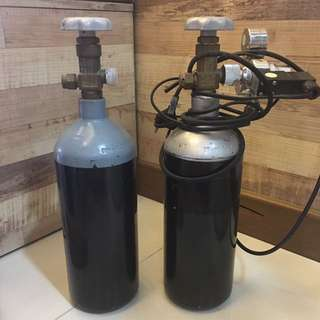 CO2 tanks with solenoid