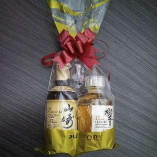 """日本Whisky酒版(50ml)套裝""""響""""17年&山崎12年"""