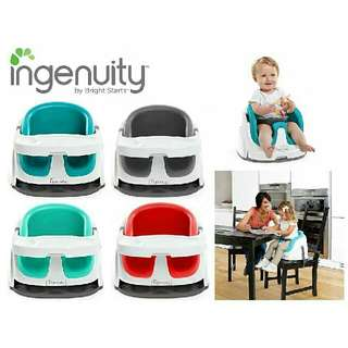 NEW STOCK ARRIVAL⛟🚛🚚🙆 Brand NEW Bright Starts INGENUITY – Baby Base 2-In-1 Booster Seat🙌🙋