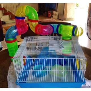 PRE-LOVED Palatial Hamster Cage w/ Freebies + FREE Lipstick
