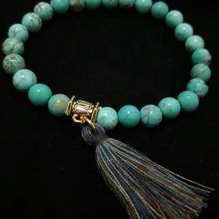 Turquoise Tassel Bracelet