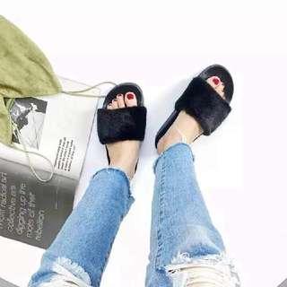 Fenty Inspired Furry Sandals [PO]