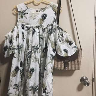 Summer pineapple dress