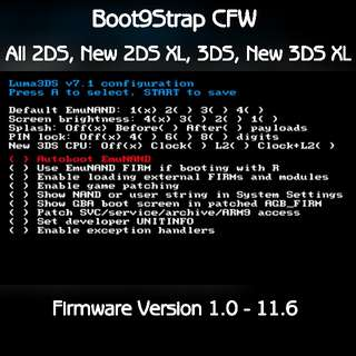 Jailbreak/Unbrick/Region Change 2DS/3DS/New3DSXL/New2DSXL - Boot9Strap CFW
