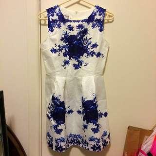 Blue Porcelain Dress