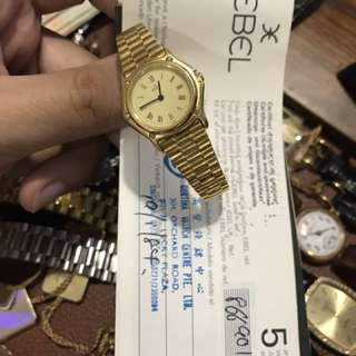 Ebel ladies solid gold