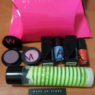 Make Up Store full size body Lotion 150ml, Nail polish Indah & Kaka, Eye Shadow Yaya & Moscow