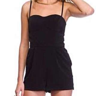 Black Playsuit size 12 Princess Polly