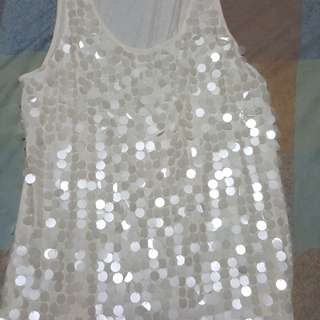 Jennifer Lopez Sleeveless Top with Sequins