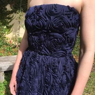 Carla Zampatti Navy Gown - Size 8 (brand New) RRP $1,000+