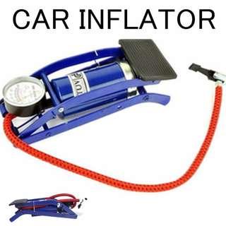 Car pump inflator Foot Air Pump 100PSI Vehicle Tires Bicycle Bike Motorbike Ball Inflator