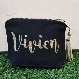 Customised canvas pouch (with base)