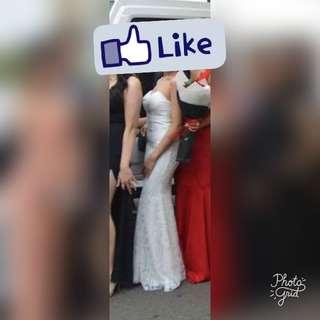 White Sweetheart Mermaid Formal Dress