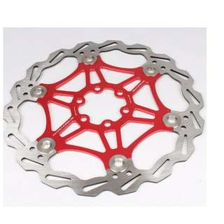 (Red)180mm Heat-Releasing Floating Disc for Bike/Bicycle