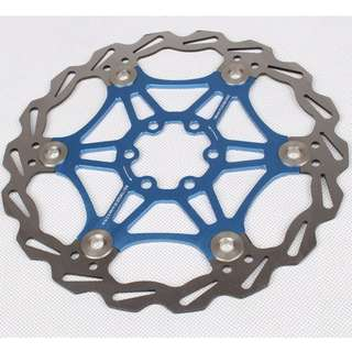 (Blue)180mm Heat-Releasing Floating Disc for Bike/Bicycle