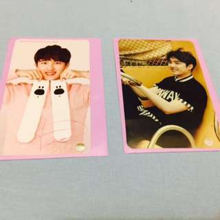 EXO D.O photocards and postcard