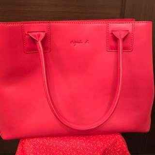 超新淨😍Agnes B 橙紅色袋