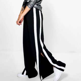 Boohoo side split pants