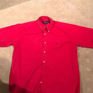 Vintage Ralph Lauren Red Short Sleeve Shirt