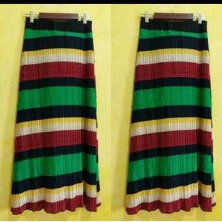 Rainbow long skirt
