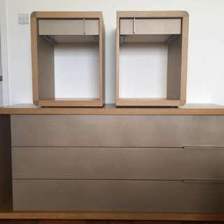 三桶櫃+床頭櫃組合