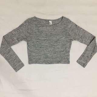H&M Grey Crop Top