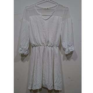 純白雪紡洋裝(含運)