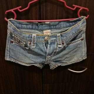 preloved true religion denim shorts