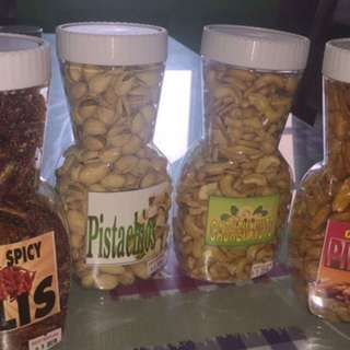 Pistachios Pili Nuts Cashew Nuts Sweet and Spicy Dilis