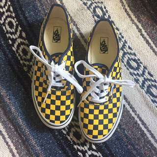 Vans Authentic Yellow Checker