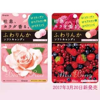 【免運費】Kracie Beauty Rose 吐息 玫瑰香口糖 32g x 10包