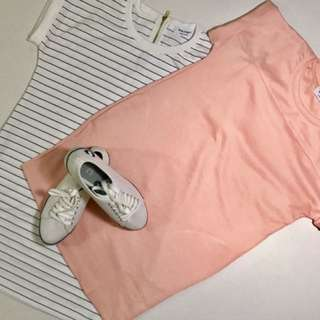 SOLD OUT-Peach and White Dress